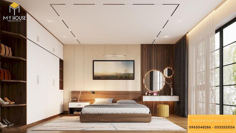 Mẫu thiết kế nội thất phân khu Ngọc Trai tại Vinhome Ocean Park - Phòng ngủ master