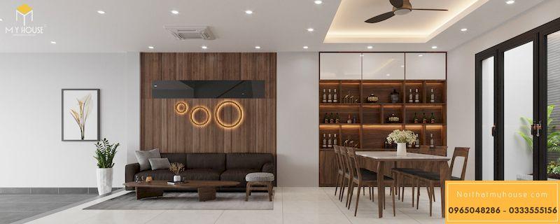 Mẫu thiết kế nội thất phân khu Ngọc Trai tại Vinhome Ocean Park - Phòng bếp tầng 1