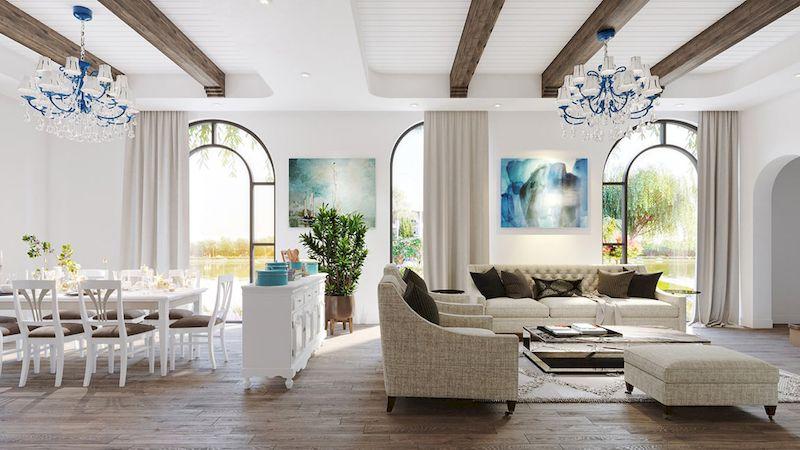 Thiết kế nội thất phân khu Sao Biển tại Vinhome Ocean Park phong cách Địa Trung Hải