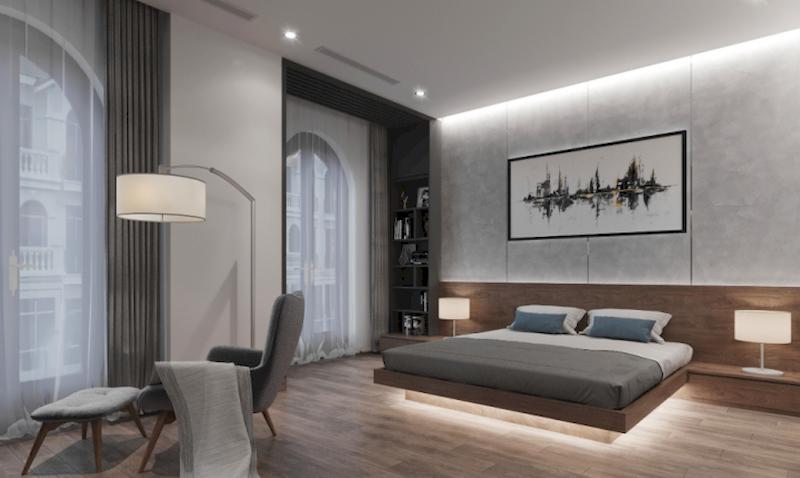 Nội thất phòng ngủ thông thoáng và đơn giản