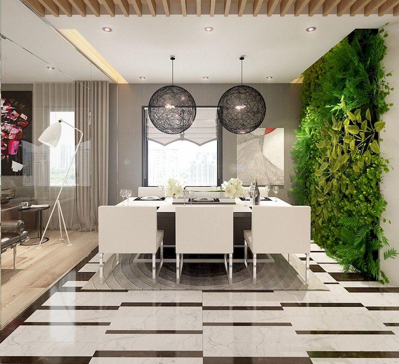 Phòng ăn thiết kế khá đơn giản và gần gũi