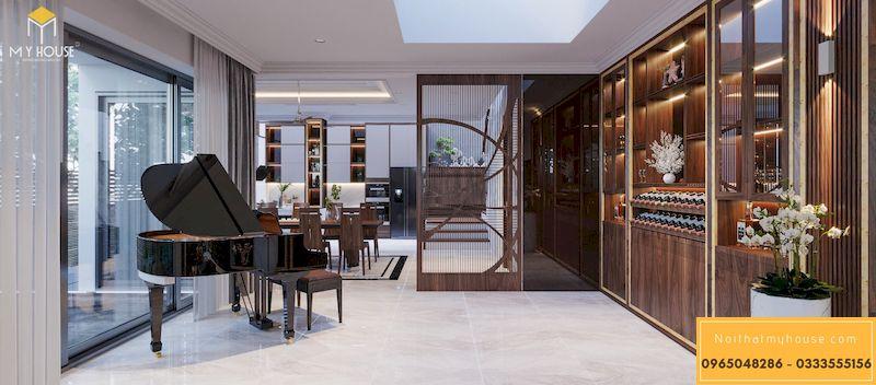 Thiết kế nội thất phân khu Sao Biển tại Vinhome Ocean Park - Phòng khách