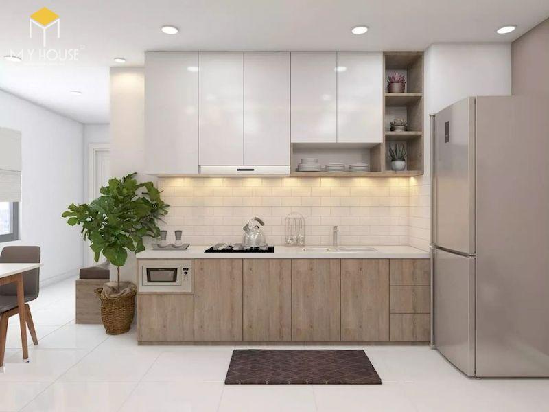 Tủ bếp picomat cánh phủ acrylic - hình 1