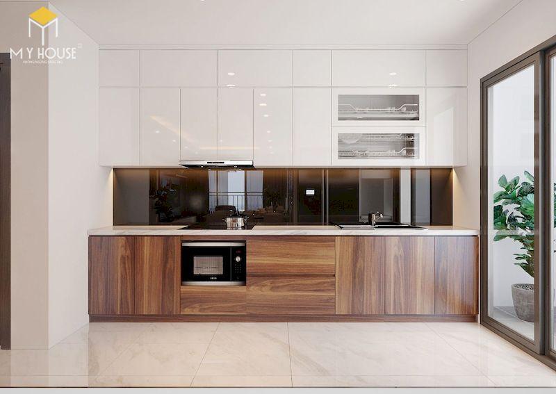 Tủ bếp picomat cánh phủ acrylic - hình 5