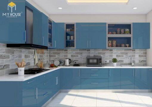 Tủ bếp picomat cánh phủ acrylic 9