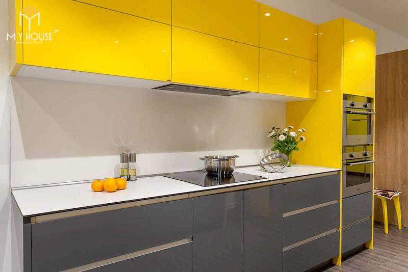 Tủ bếp picomat cánh phủ acrylic - hình 3