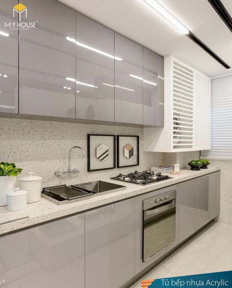Tủ bếp picomat cánh phủ acrylic - hình 13