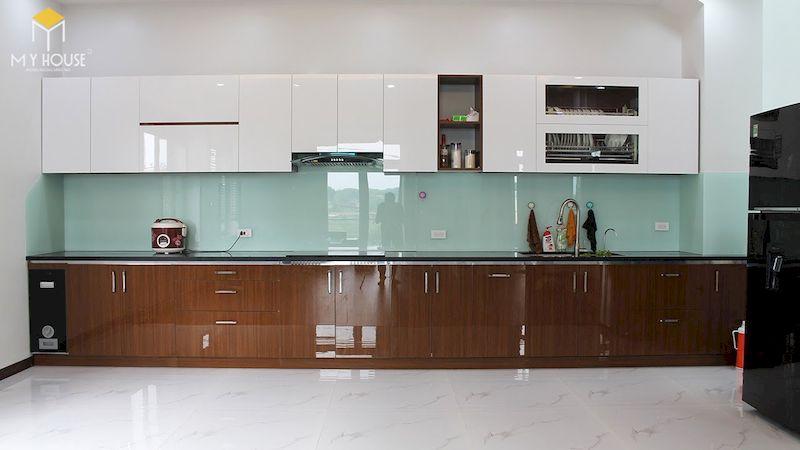 Tủ bếp picomat cánh phủ acrylic - hình 7
