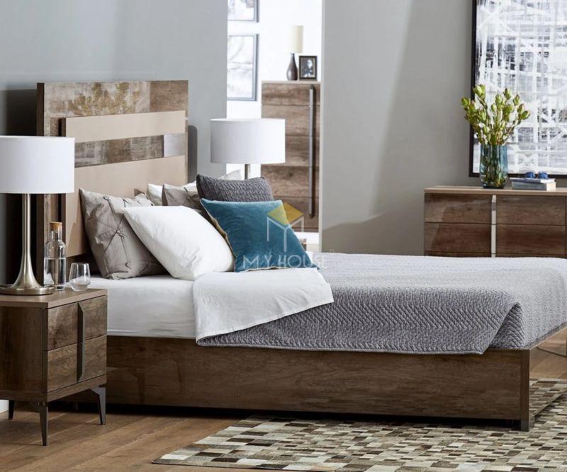 Mẫu vách đầu giường gỗ nhựa