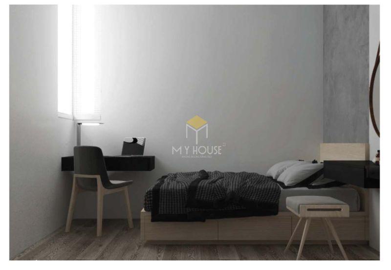 Phòng ngủ đơn giản cho nam