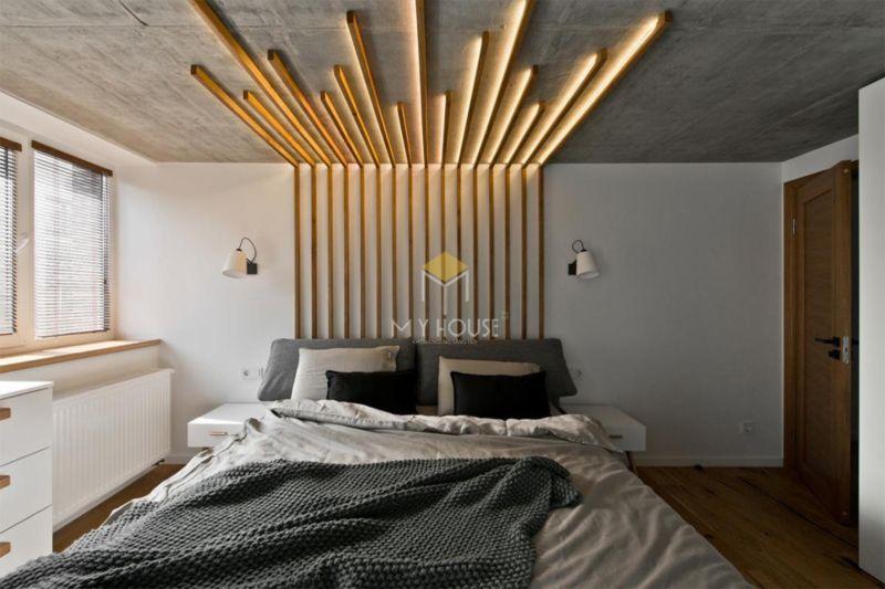 Vách đầu giường cách thiết kế sáng tạo