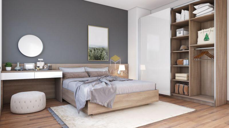 trang trí tường phòng ngủ bằng tranh ảnh