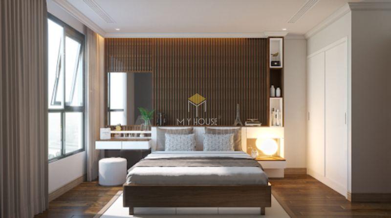 vách đầu giường gỗ tự nhiên