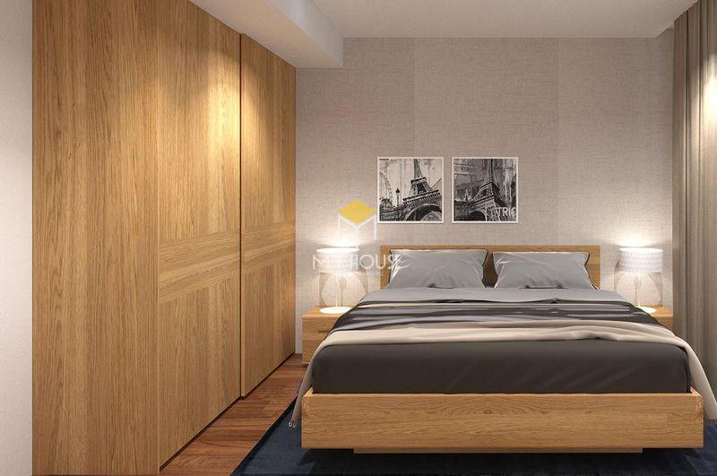 Diện tích phòng ngủ nhà cấp 4 - phòng ngủ 6m2 gỗ công nghiệp