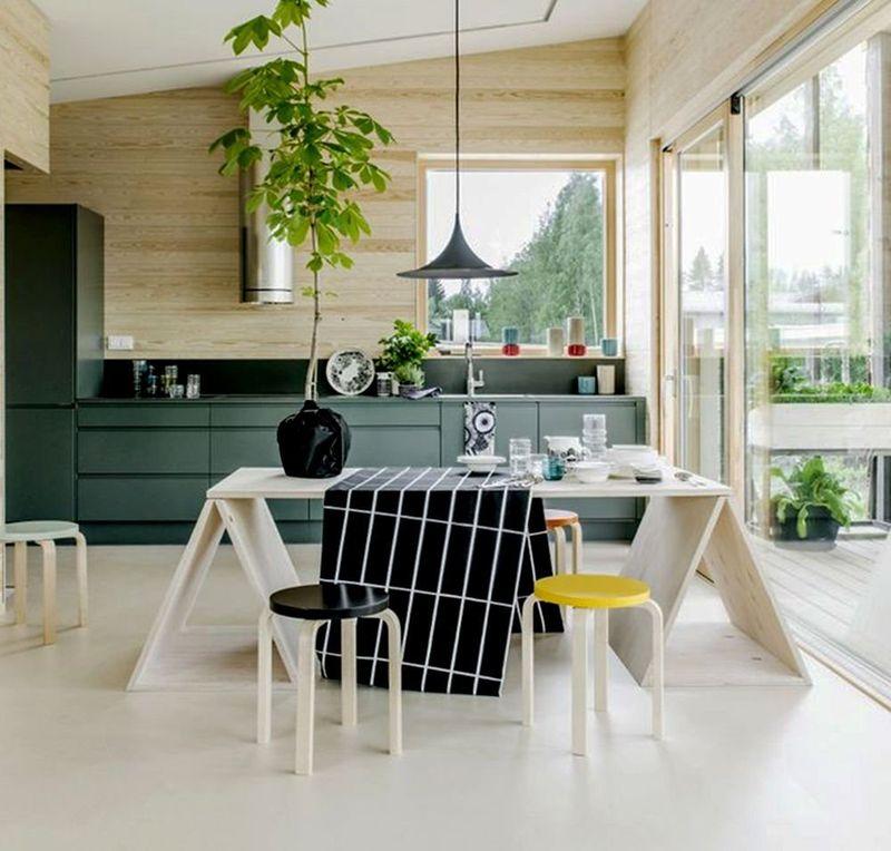 Mẫu phòng bếp có cửa sổ đẹp hiện đại