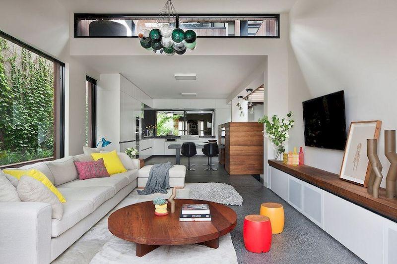 Thiết kế nội thất nhà 1 tầng 3 phòng ngủ 100m2 - phòng khách 4