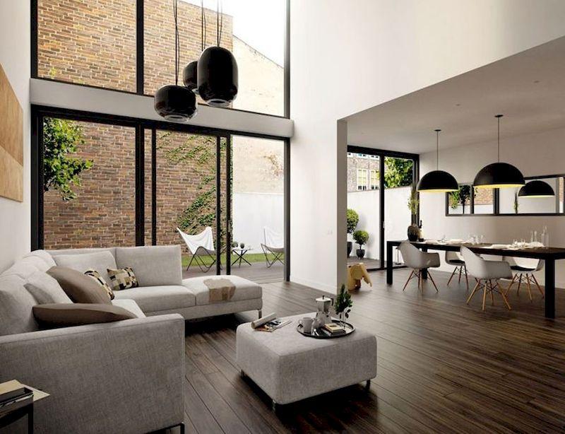 Thiết kế nội thất nhà 1 tầng 3 phòng ngủ 100m2 - phòng khách sang trọng