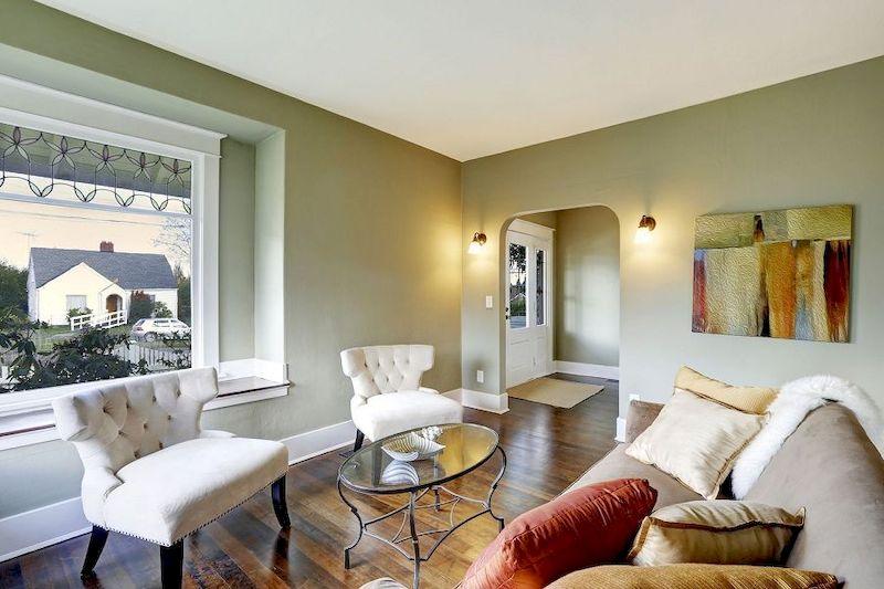 Thiết kế nội thất nhà 1 tầng 3 phòng ngủ 100m2 - phòng khách 2