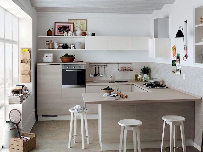 Thiết kế phòng bếp gia đình cho nhà 1 tầng đơn giản