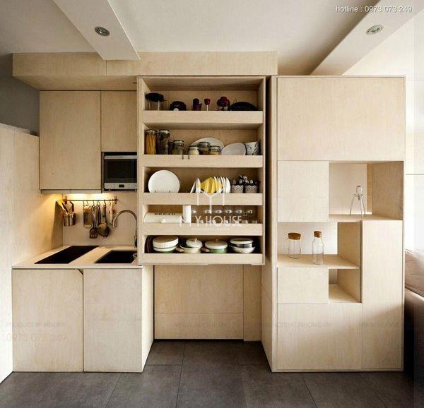 Nội thất nhà bếp thông minh: Chia nhiều ngăn để chứa đồ tiện lợi hơn