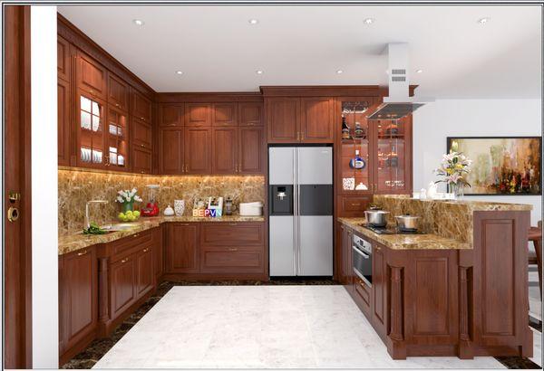 Nội thất phòng bếp gỗ tự nhiên 14