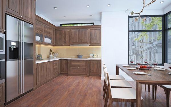 Nội thất phòng bếp gỗ tự nhiên 15