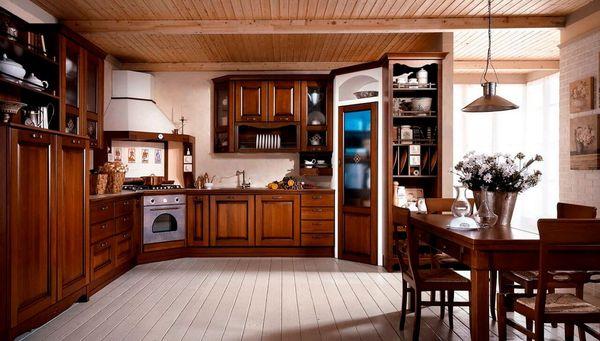 Thiết kế nội thất phòng bếp gỗ tự nhiên 10