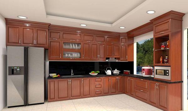 Nội thất phòng bếp gỗ tự nhiên - 20