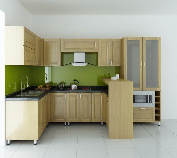 Nội thất phòng bếp gỗ tự nhiên sồi - 22
