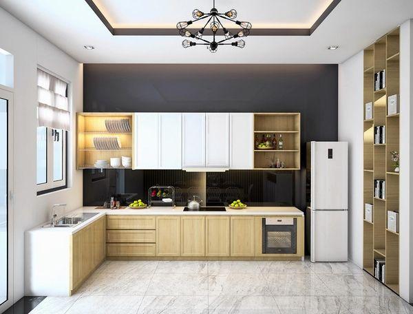 Nội thất phòng bếp gỗ tự nhiên 11