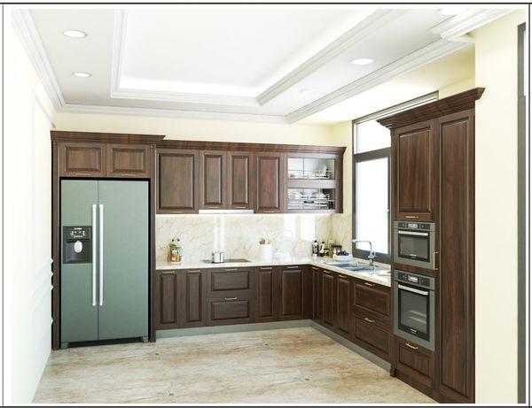 Nội thất phòng bếp gỗ tự nhiên 12