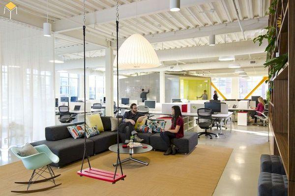Màu sắc tổng thể của văn phòng làm việc