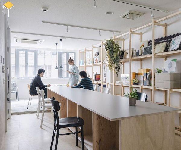 Thiết kế nội thất phòng làm việc với phòng đọc sách và khu vực giải trí