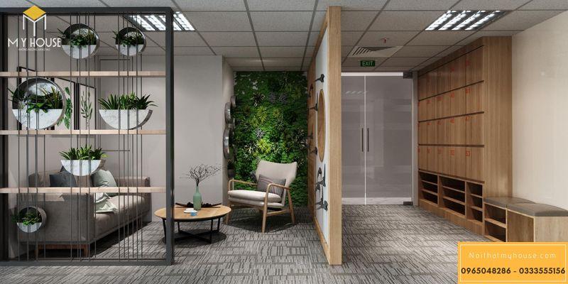 Mẫu thiết kế nội thất phòng làm việc - Bàn tiếp khách