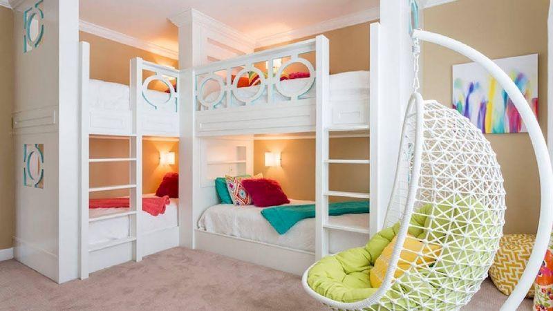 Mẫu giường tầng cho phòng ngủ trẻ em