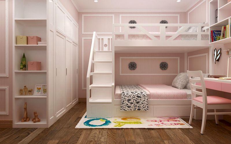Thiết kế nội thất phòng ngủ trẻ em tân cổ điển