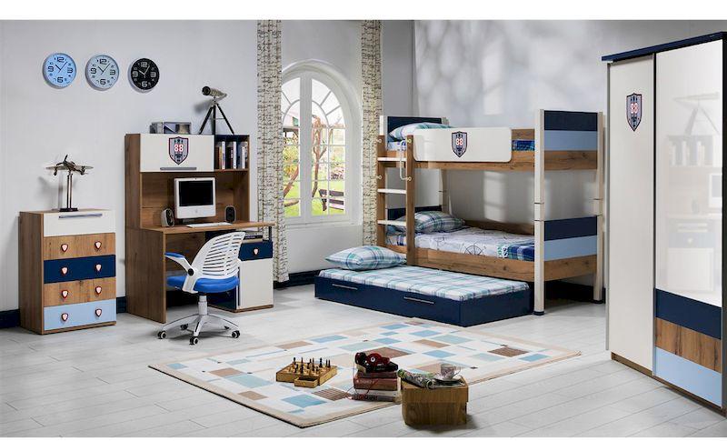 Mẫu nội thất phòng ngủ trẻ em với giường tầng tiết kiệm diện tích