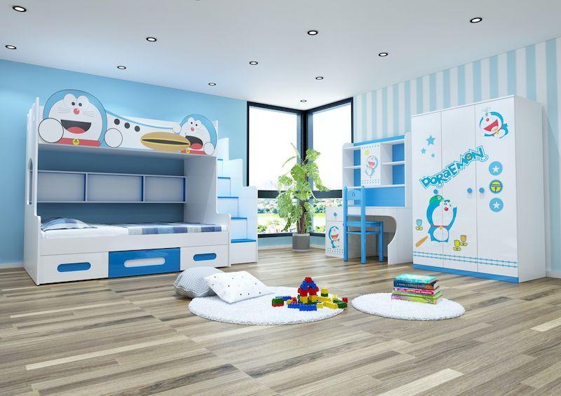 Nội thất phòng ngủ trẻ emvới cách trang trí độc đáo, đúng sở thích của trẻ
