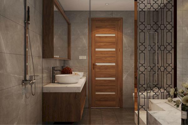 Vì sao nên chọn nội thất phòng tắm gỗ óc chó?