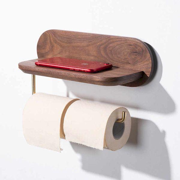 Phụ kiện nhà vệ sinh bằng gỗ óc chó