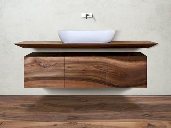 Nội thất phòng tắm hiện đại gỗ tự nhiên