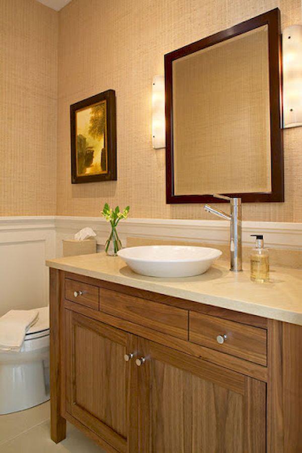 Bộ tủ lavabo gỗ tự nhiên cao cấp