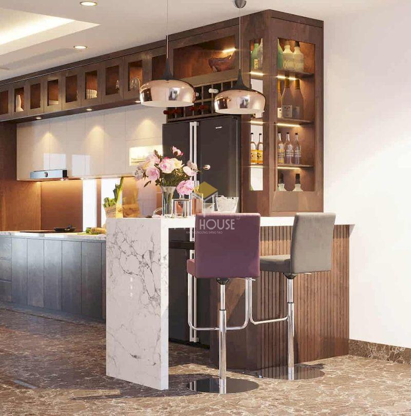 Tiêu chuẩn thiết kế quầy bar tủ bếp