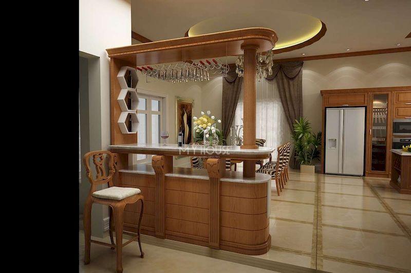 Kích thước quầy bar phòng bếp