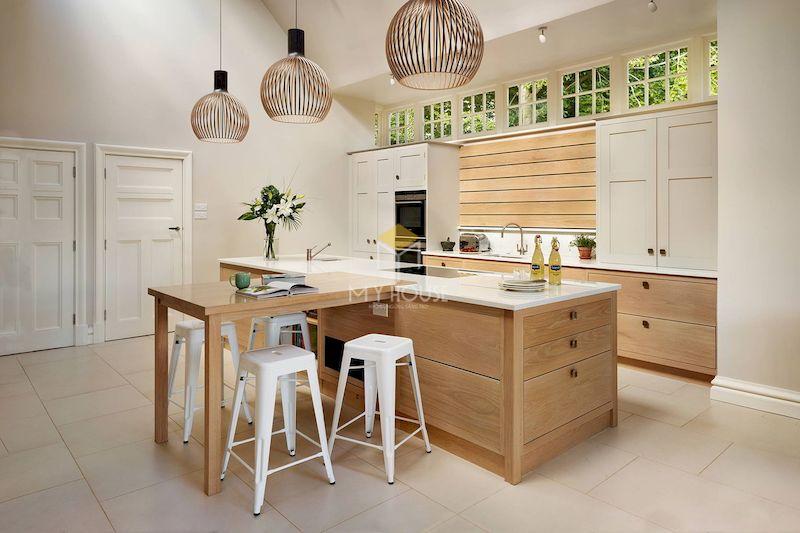 Tủ bếp đa năng gỗ tự nhiên