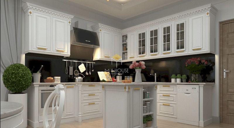 Đặc điểm của tủ bếp tân cổ điển