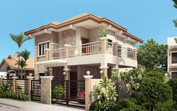 Bản vẽ biệt thự 2 tầng mái thái - Thiết kế biệt thự sang trọng