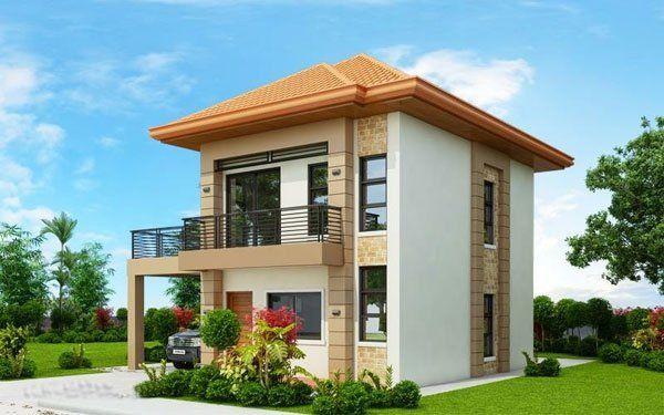 Bản vẽ biệt thự 2 tầng mái thái - Biệt thự không gian nhỏ hẹp