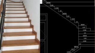 Bản vẽ cầu thang 21 bậc 15