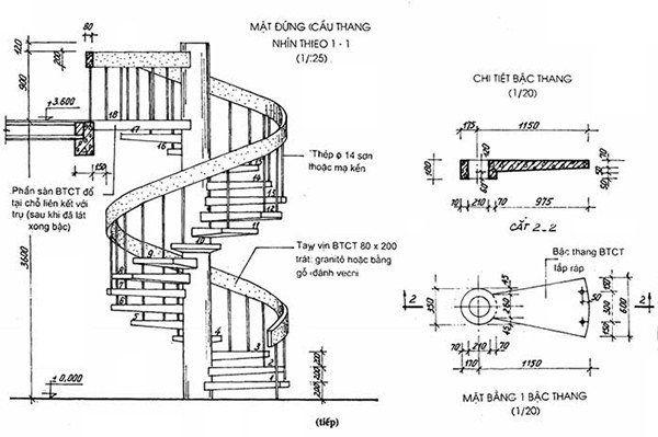 Bản vẽ cầu thang 21 bậc 07